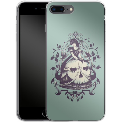 Apple iPhone 8 Plus Silikon Handyhuelle - Mrs Death von Enkel Dika