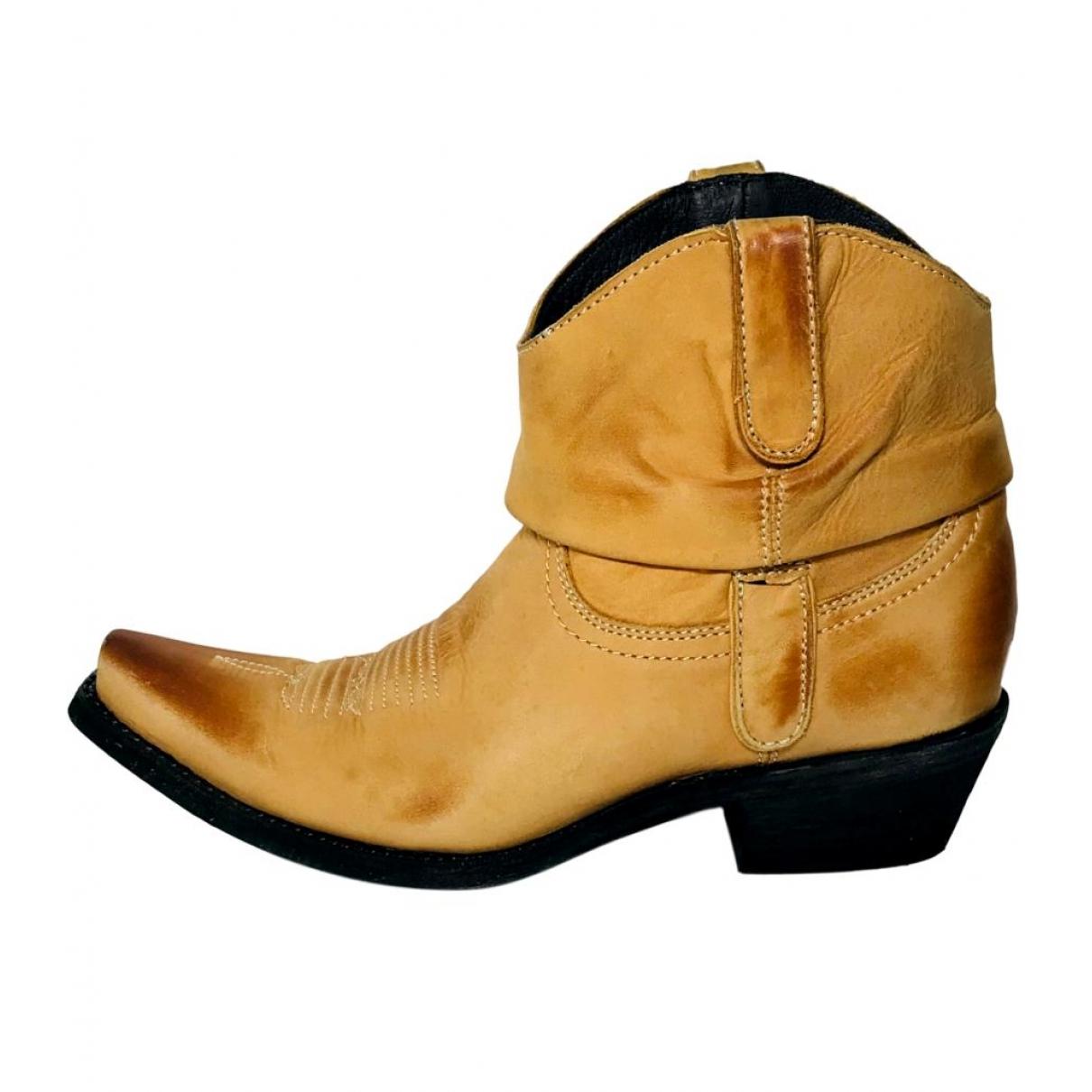Old Gringo - Boots   pour femme en cuir - beige