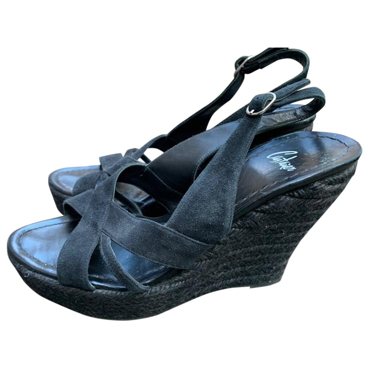 Castaner - Sandales   pour femme en suede - noir