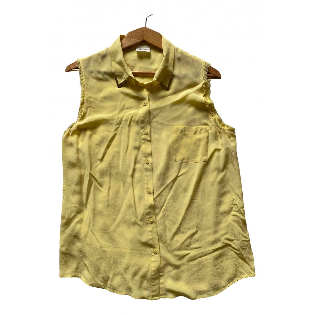 Bel Air - Top   pour femme en soie - jaune