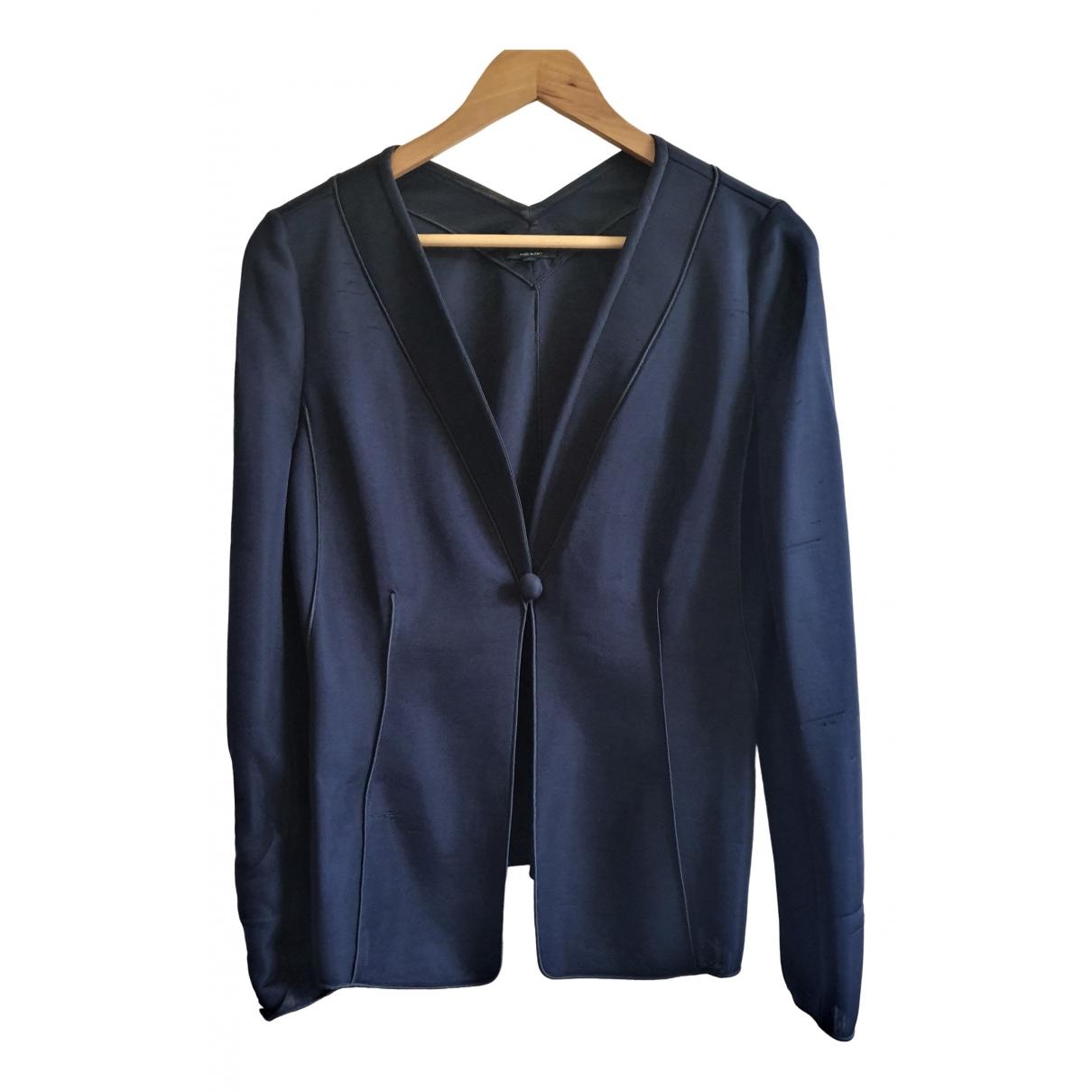 Giorgio Armani \N Navy Silk jacket for Women 42 IT