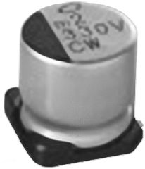 Nichicon 150μF Electrolytic Capacitor 16V dc, Surface Mount - UCW1C151MCL1GS (10)