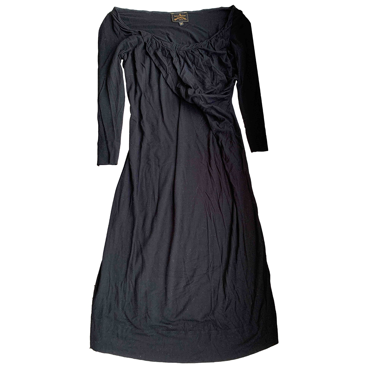 Vivienne Westwood Anglomania \N Black Cotton - elasthane dress for Women XS International