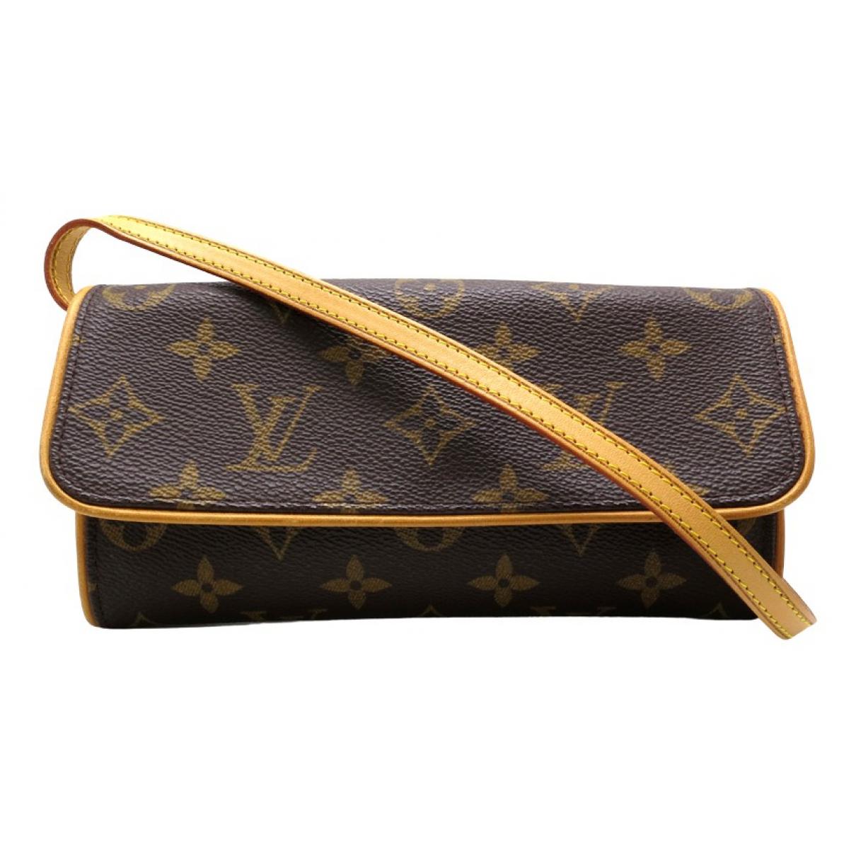 Louis Vuitton Twin Brown Cloth Clutch bag for Women N