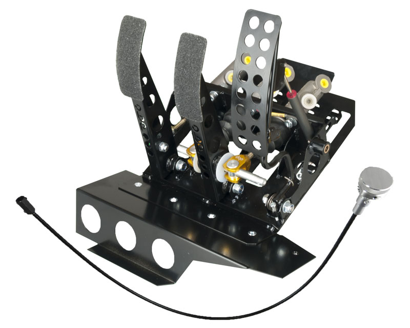 obp Motorsport OBPBMWL008DBW2 Track-Pro Left Hand Drive Hydraulic Clutch Pedal Box with Master Cylinders BMW 318is E36 92-98