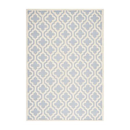 Safavieh Bernard Geometric Hand-Tufted Wool Rug, One Size , Blue