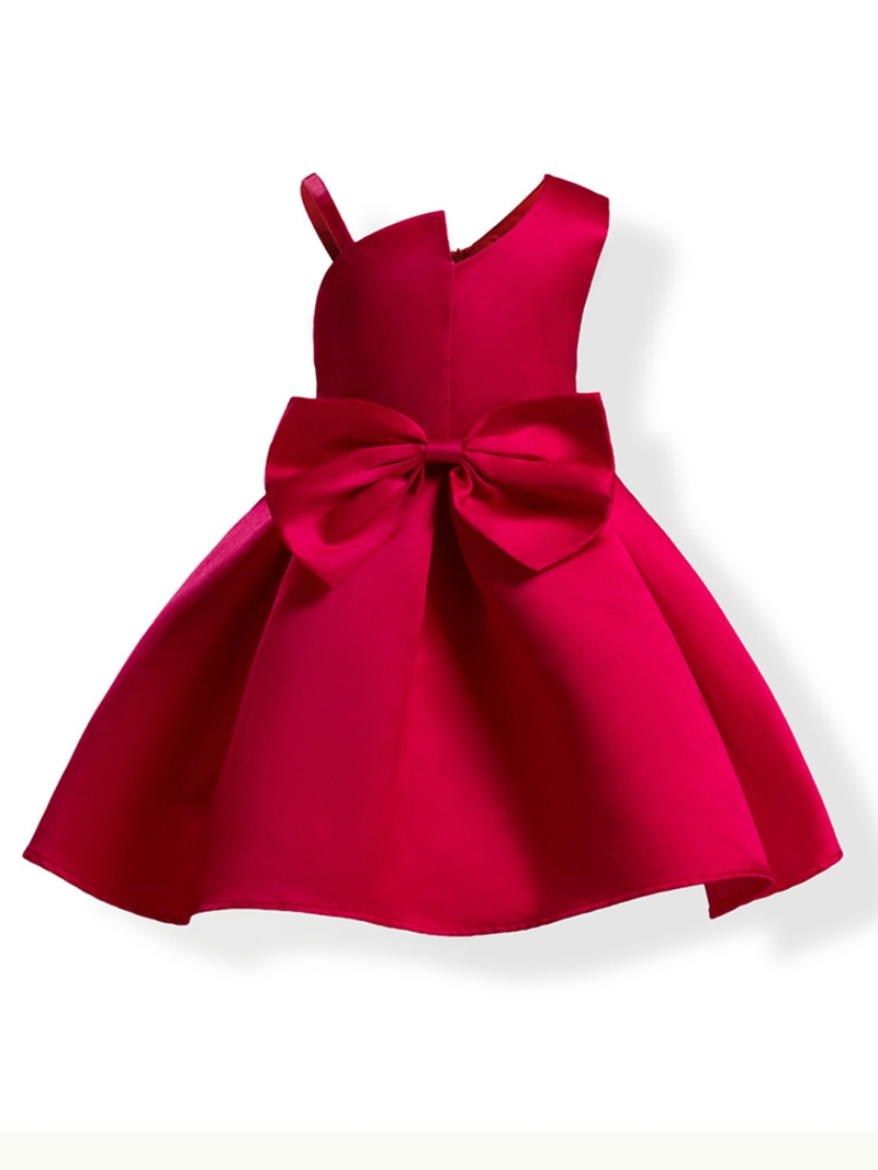 Ericdress Sweet Bowknot Solid Color Bud Girl's Princess Dress