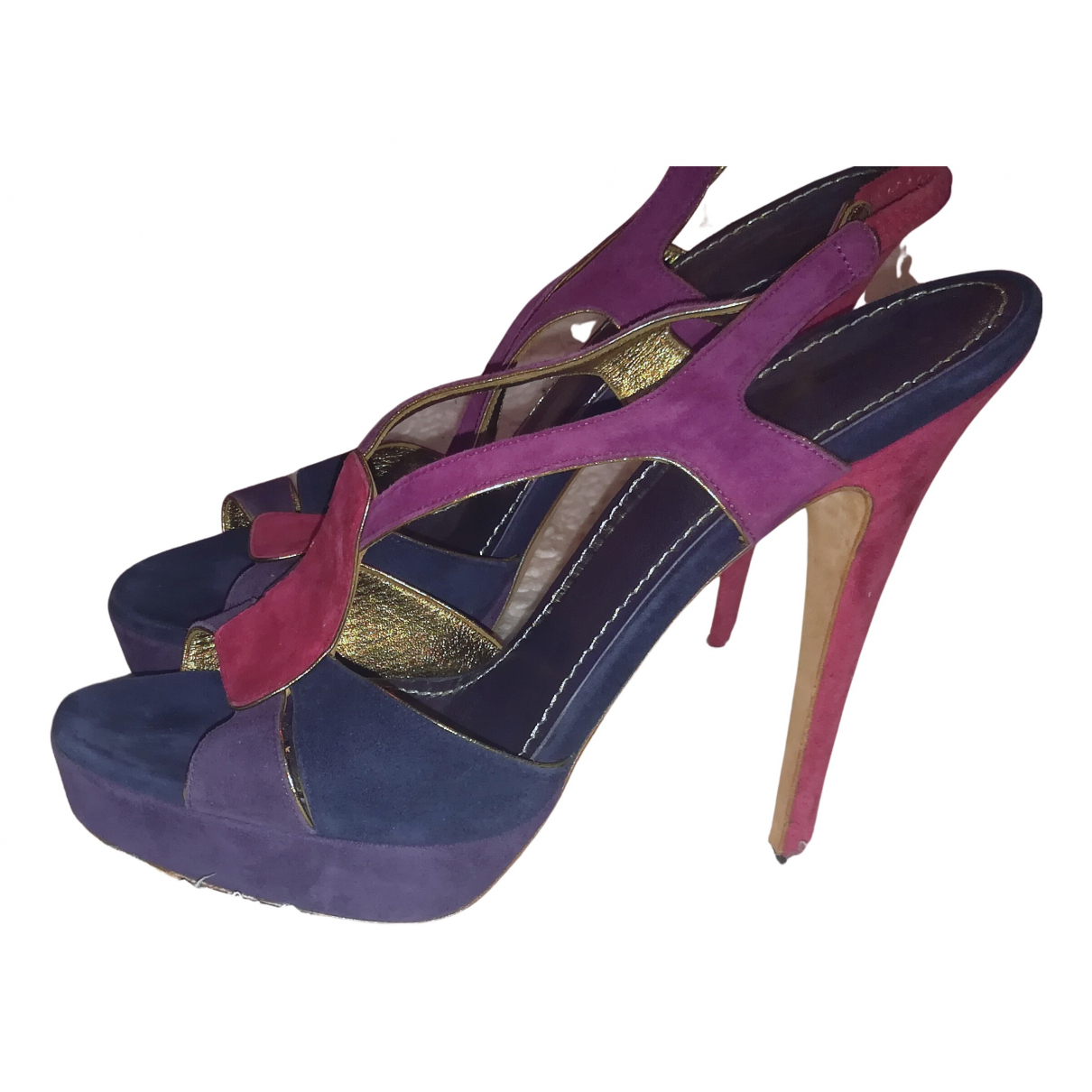 Yves Saint Laurent N Purple Suede Sandals for Women 39 EU