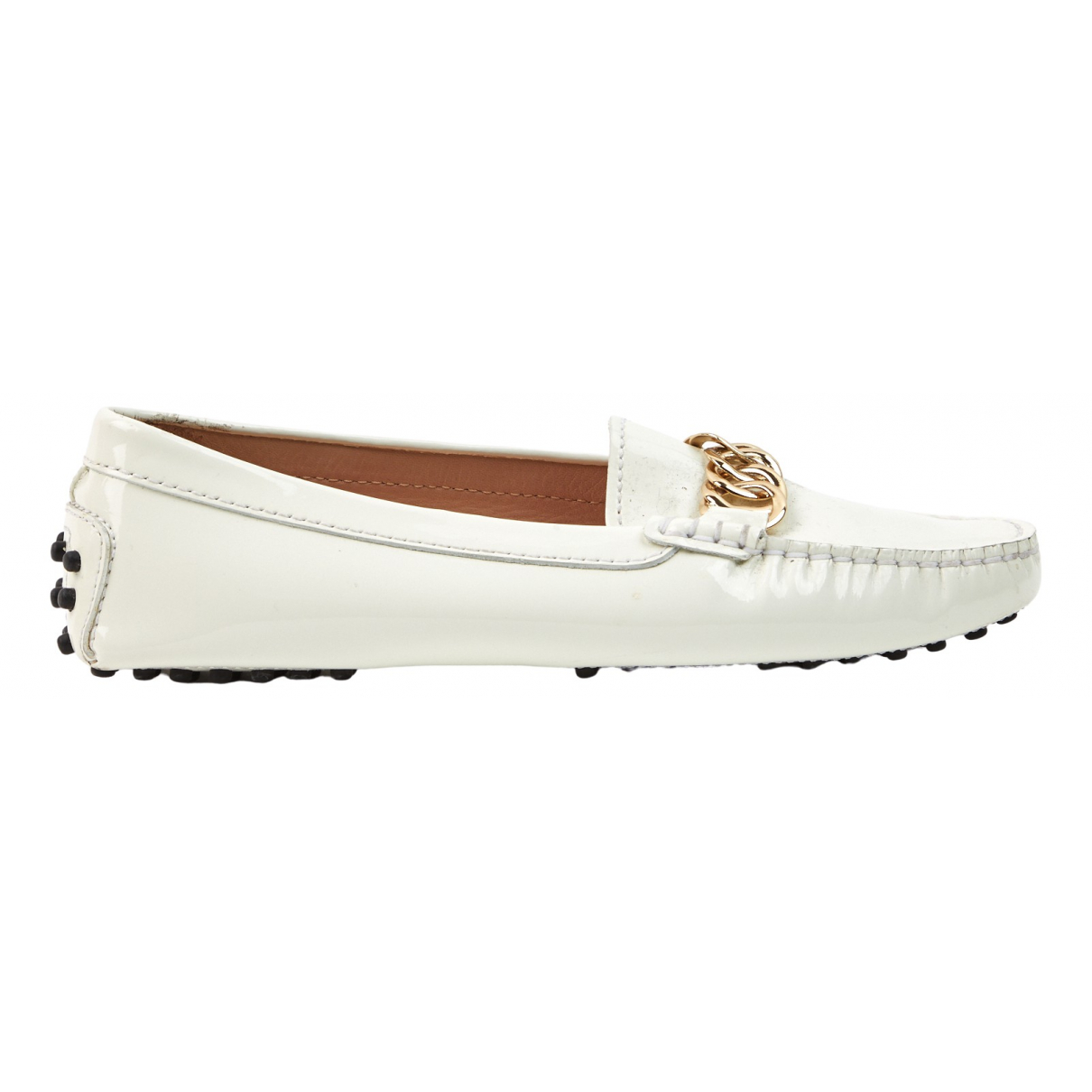 Tod's N White Patent leather Flats for Women 36 EU