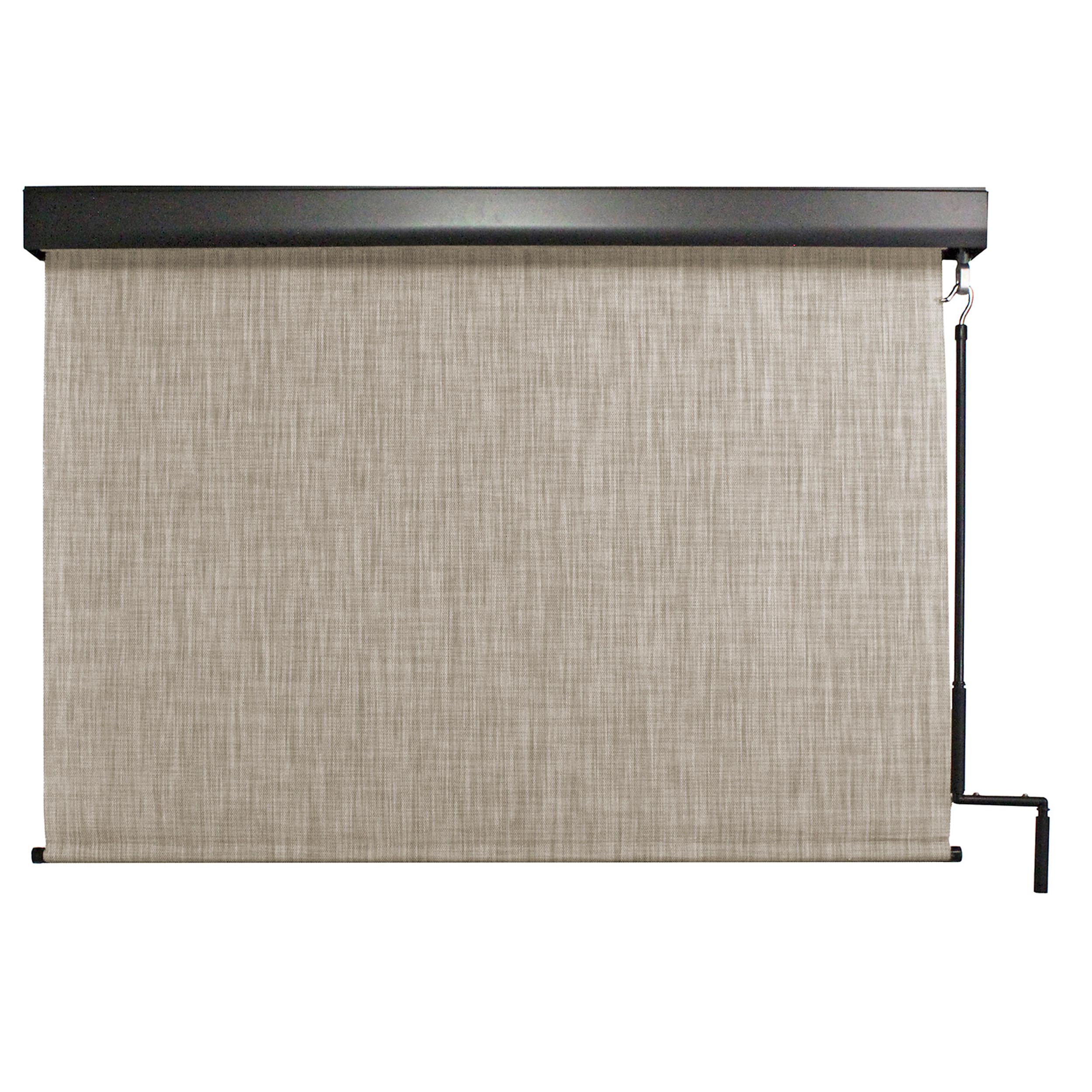 Valanced Sunshade, Titanium Series, 4' W x 8' Drop, Caribbean Fabric