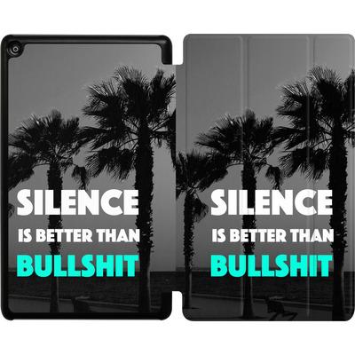 Amazon Fire HD 8 (2017) Tablet Smart Case - Silence Is Better von Statements