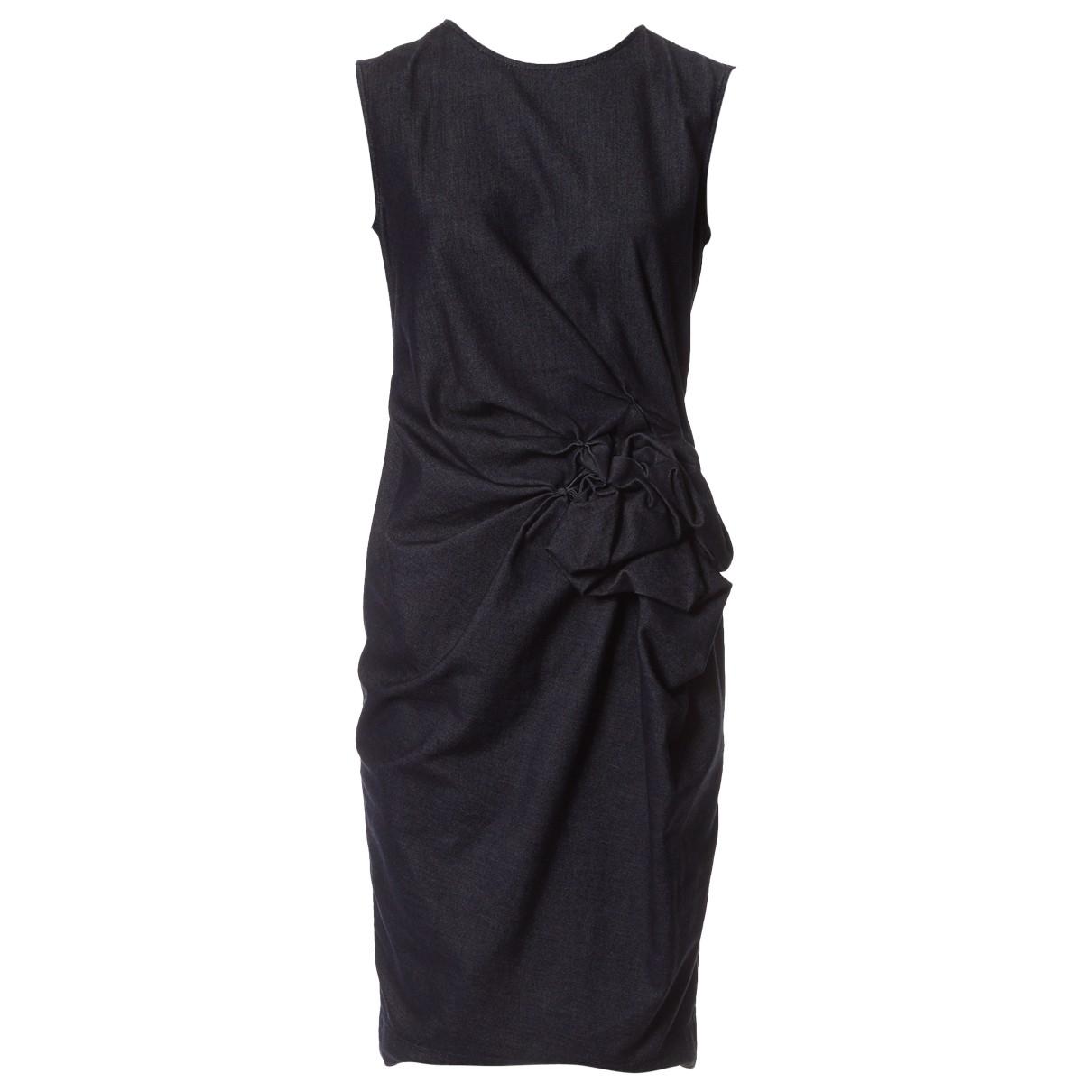 Lanvin \N Kleid in  Marine Baumwolle