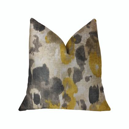 Pretty Passion Collection PBRA2272-1616-DP Double sided  16 x 16 Plutus Pretty Passion Yellow  Beige and Gray Luxury Throw