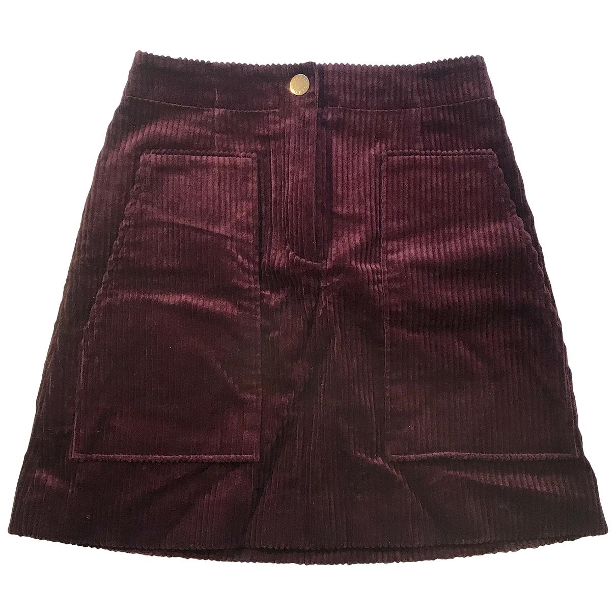 Sandro \N Purple Cotton skirt for Women 1 0-5