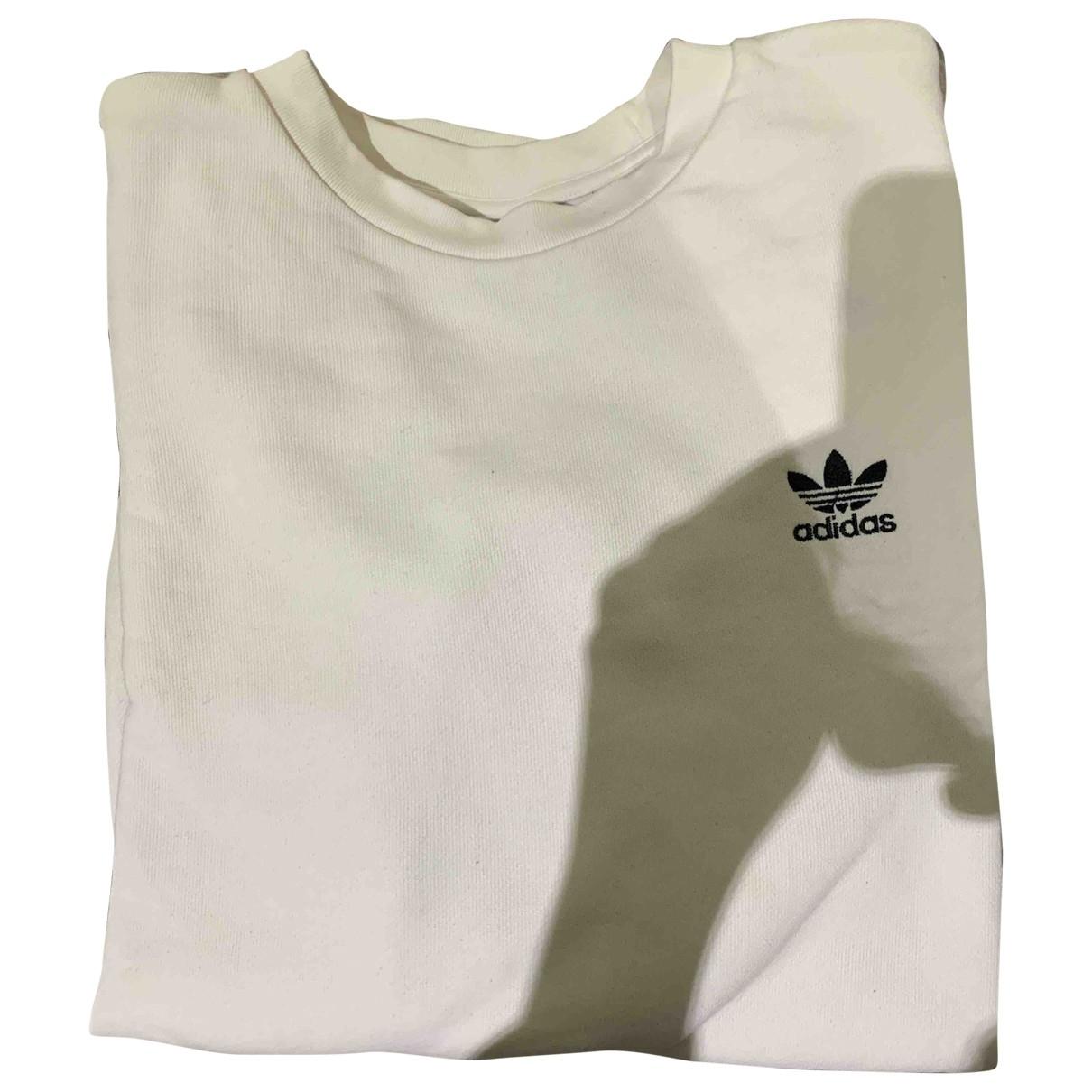 Adidas - Pull   pour femme en coton - blanc
