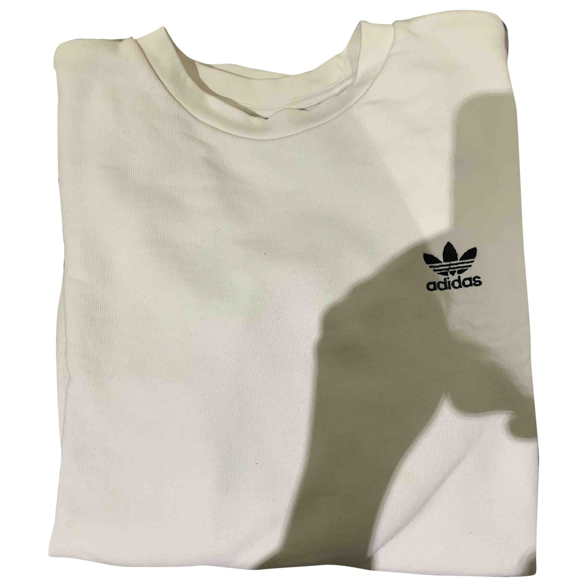 Adidas \N Pullover in  Weiss Baumwolle