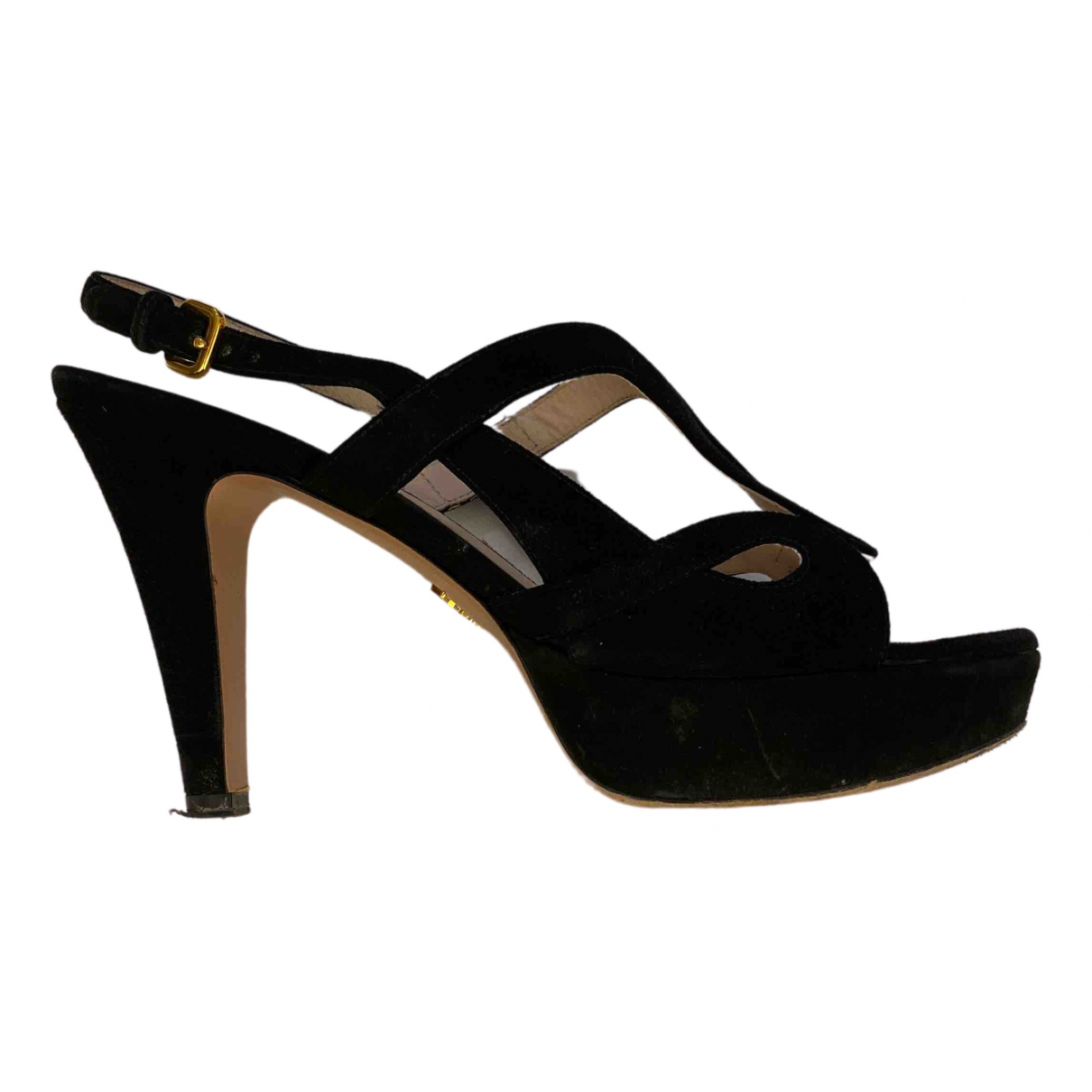 Prada \N Black Suede Heels for Women 39 EU