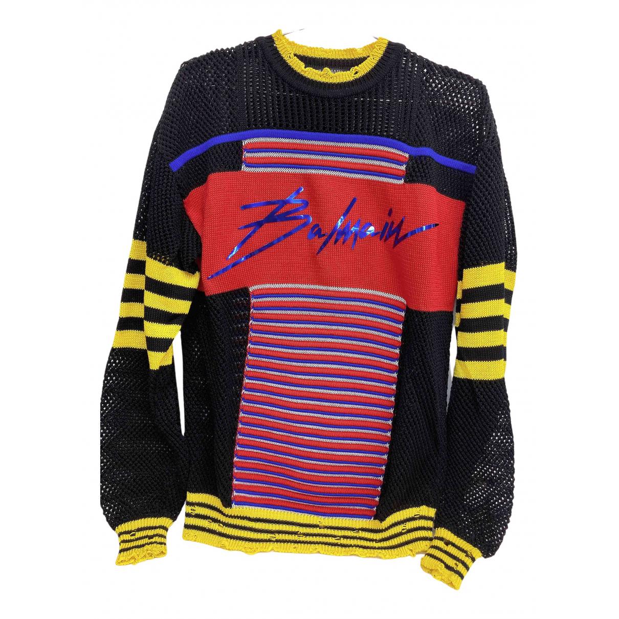 Balmain \N Pullover.Westen.Sweatshirts  in  Bunt Baumwolle