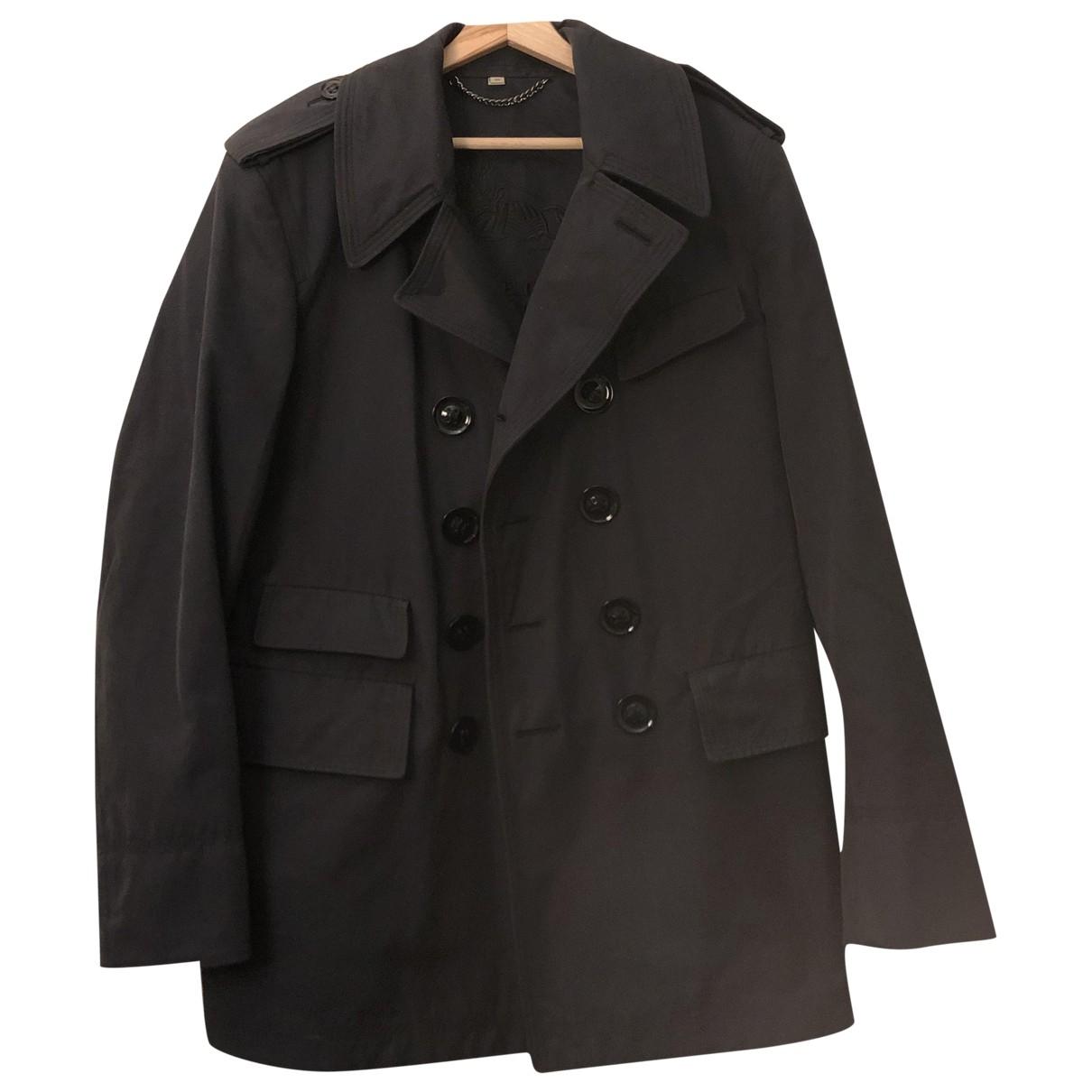 Burberry - Manteau   pour homme en coton - bleu