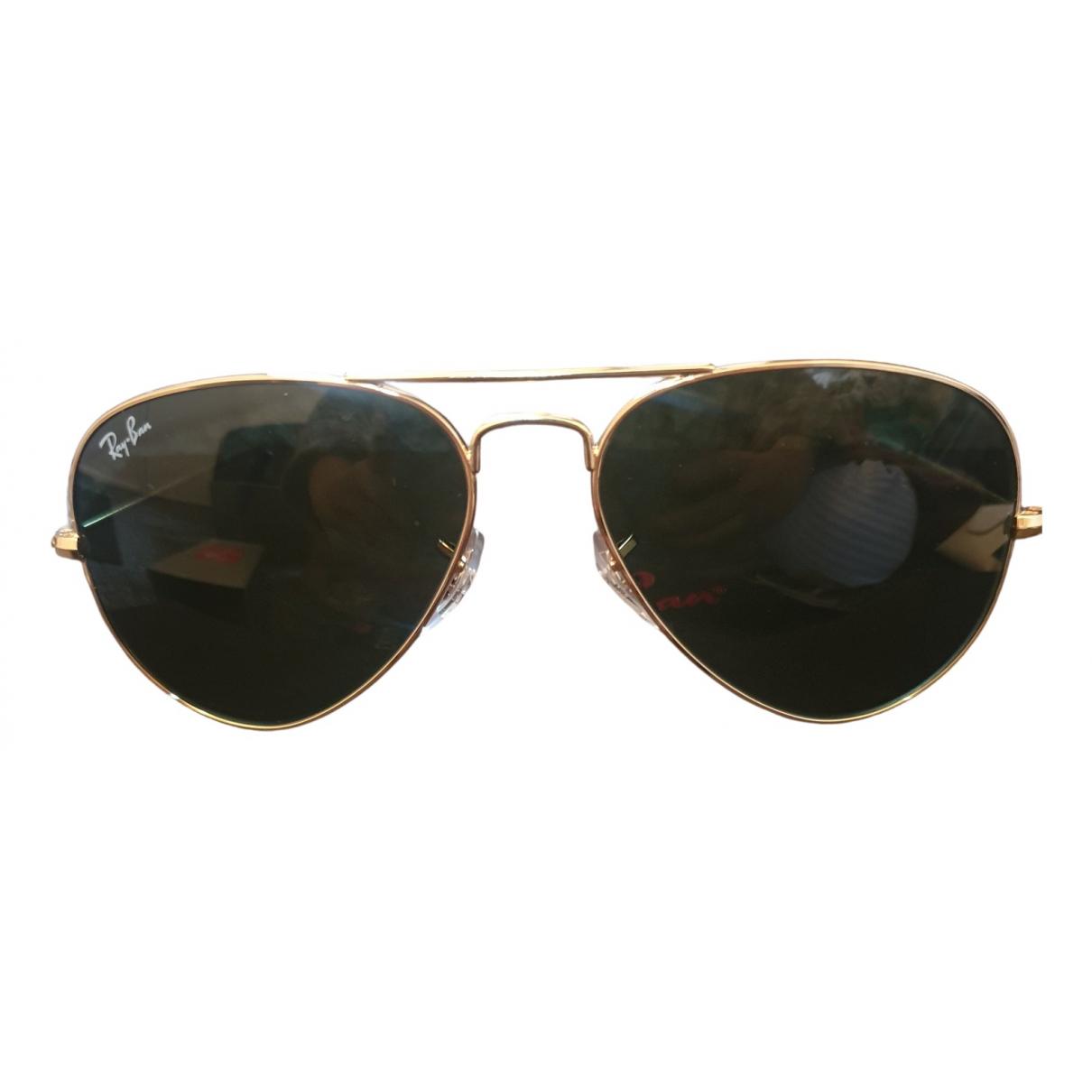 Ray-ban Aviator Sonnenbrillen Gold