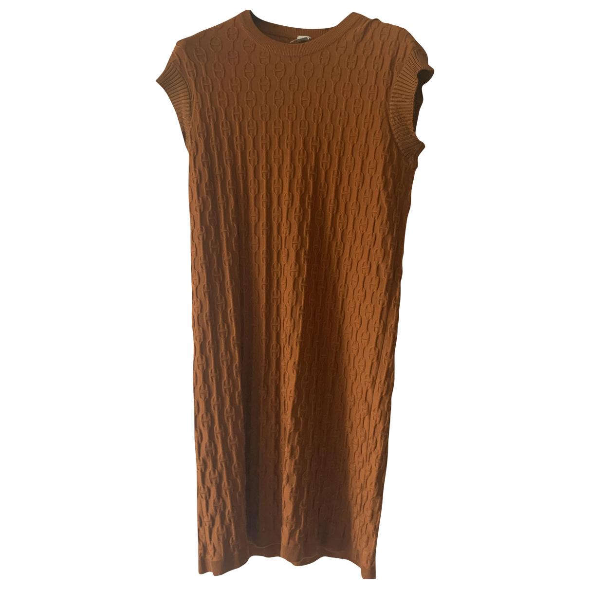 Hermes \N Kleid in  Kamel Kaschmir