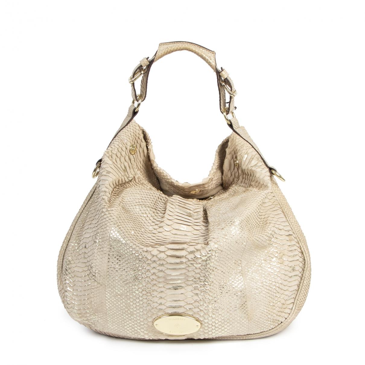 Mulberry \N Beige Python handbag for Women \N