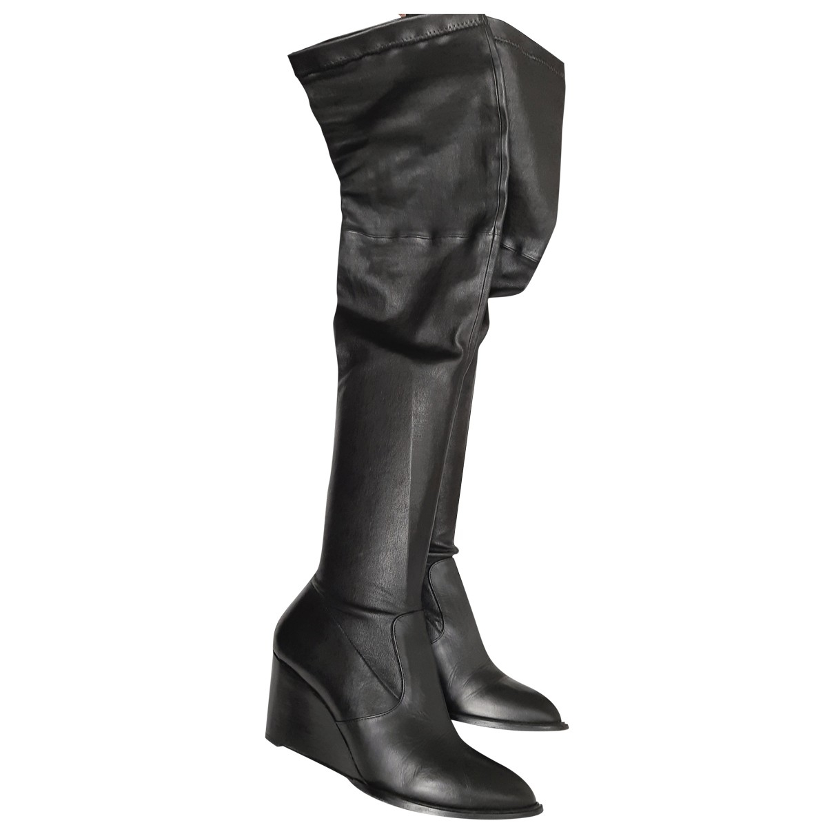 Robert Clergerie \N Black Leather Boots for Women 40 EU