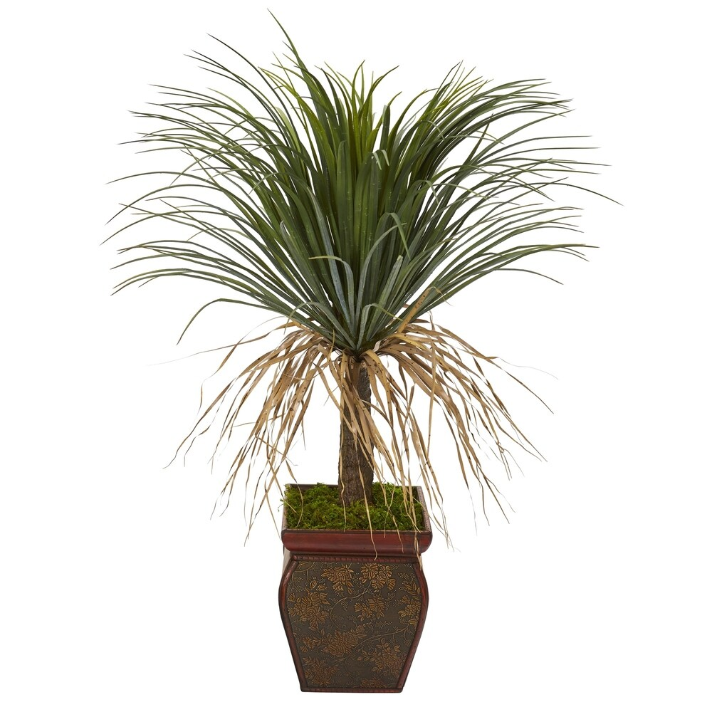 37 Pony Tail Palm Artificial Plant in Decorative Planter