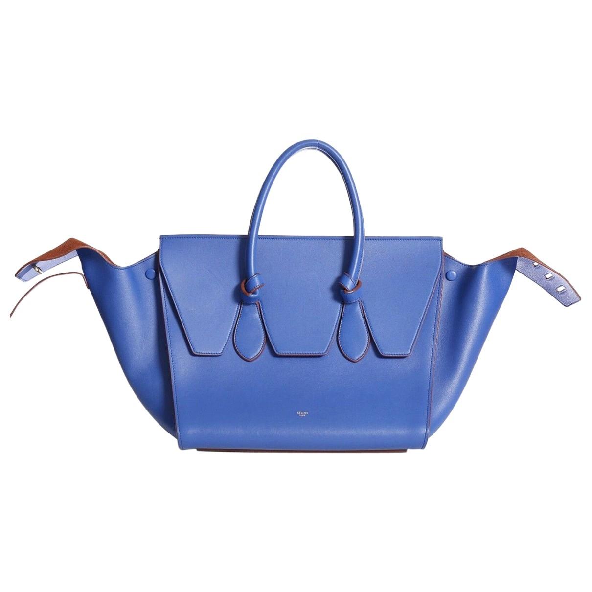Celine Tie Blue Leather handbag for Women \N