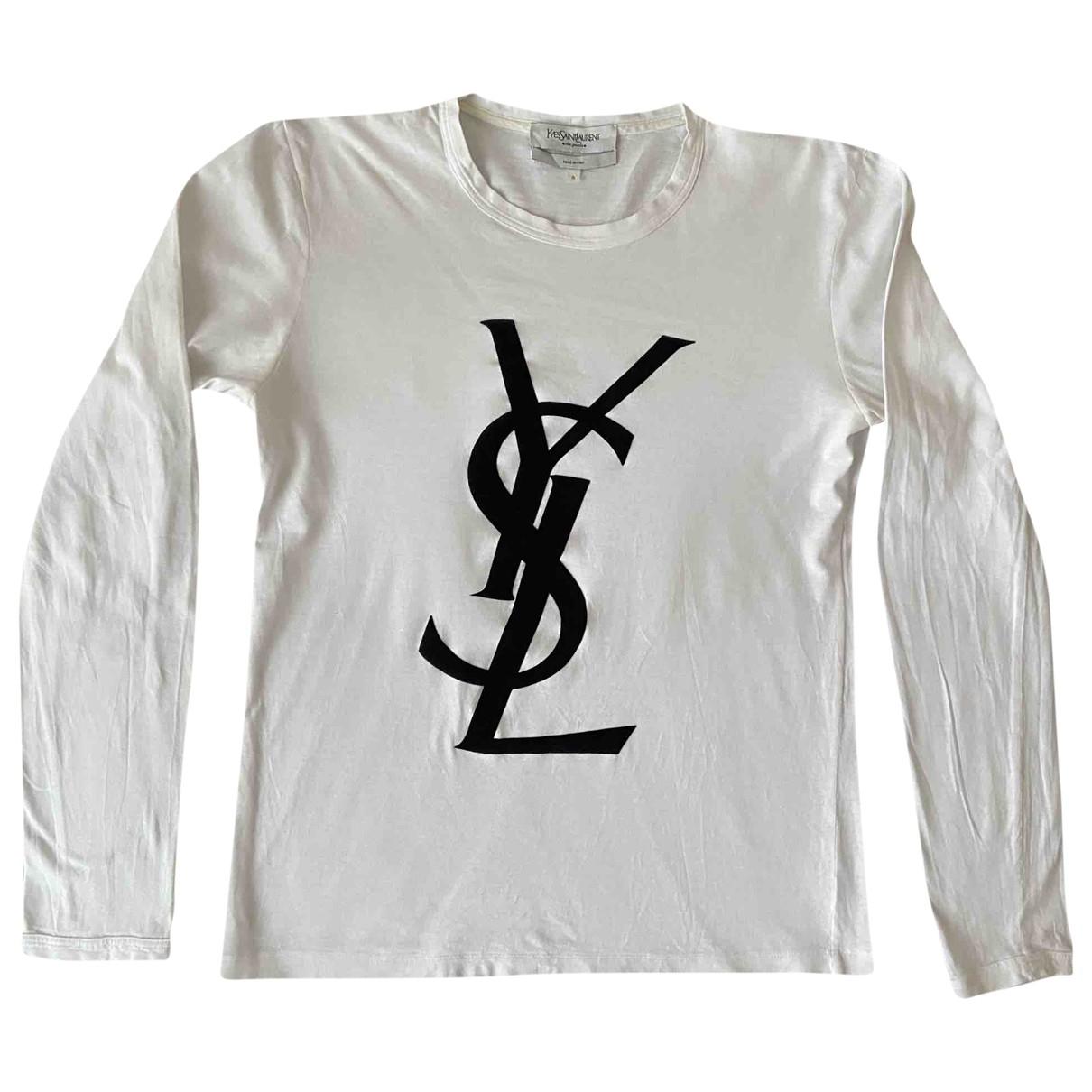 Yves Saint Laurent \N White Cotton T-shirts for Men S International