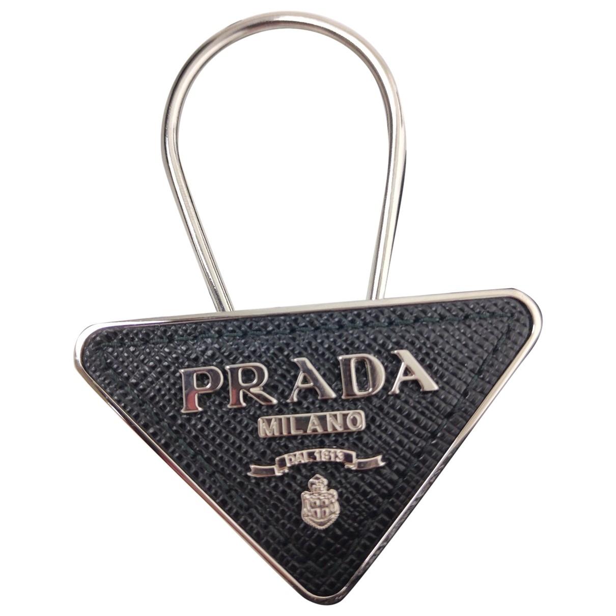 Prada \N Black Leather Bag charms for Women \N