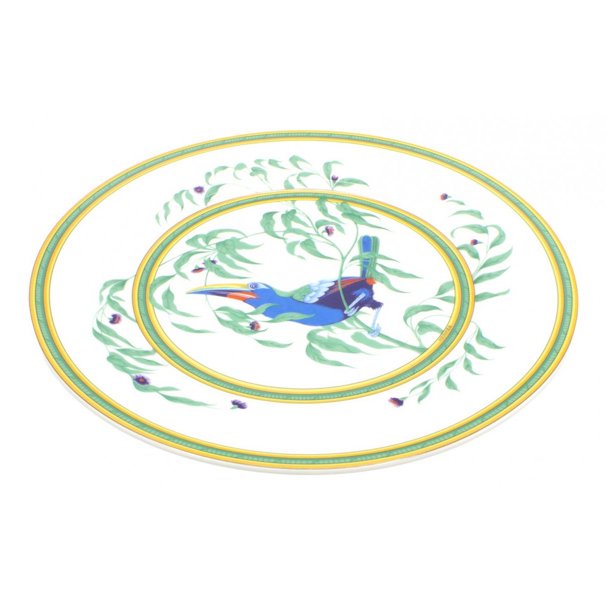 Platos Toucans de Porcelana Hermes