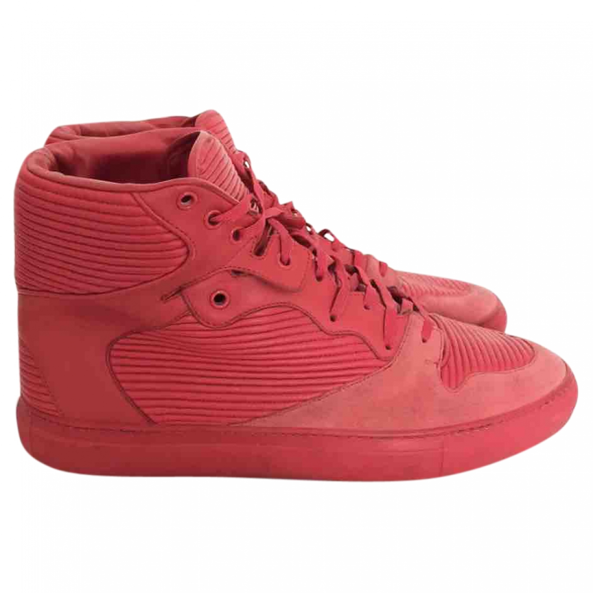 Balenciaga \N Red Leather Trainers for Men 43 EU