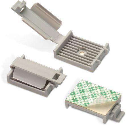 Wurth Elektronik Cable Clamp Grey Adhesive Polyamide Cable Clamp (50)