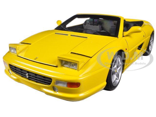 Ferrari F355 Spider Convertible Yellow Elite Edition 1/18 Diecast Car Model by Hotwheels