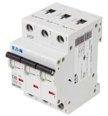 Eaton MEMShield 40 A MCB Mini Circuit Breaker, 3P Curve C