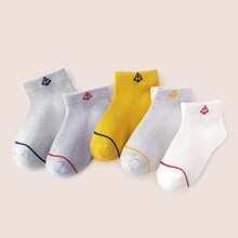5 Paare Kleinkind Jungen Socken mit Anker Muster