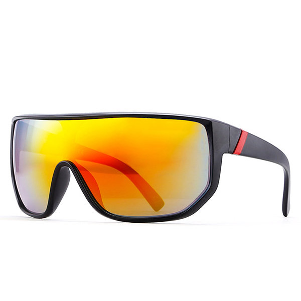 Men's Big Frame Windproof Sports Glasses Colorful Goggles Outdoor Riding Sunshade Sunglasses