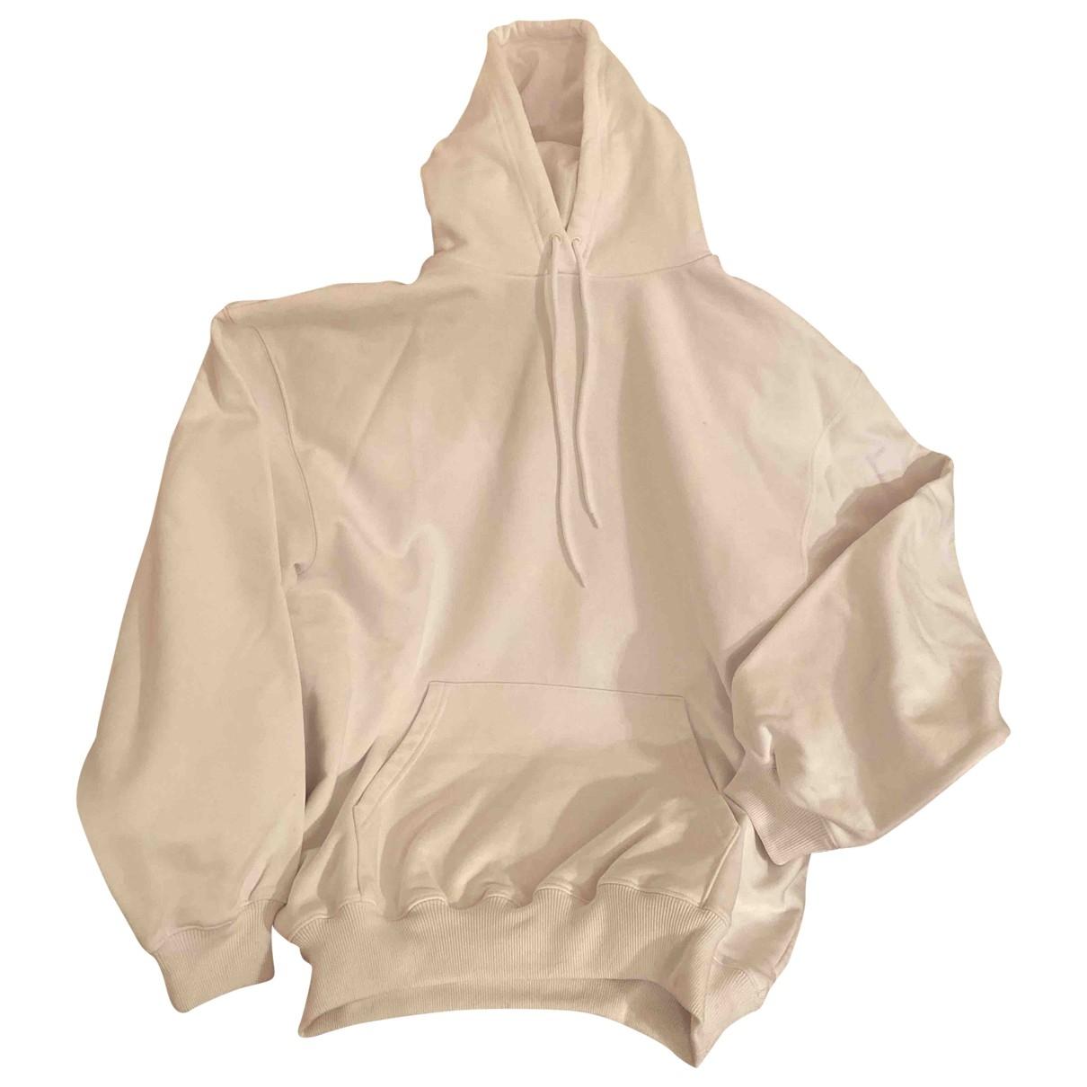 Balenciaga - Pull   pour femme en coton - blanc