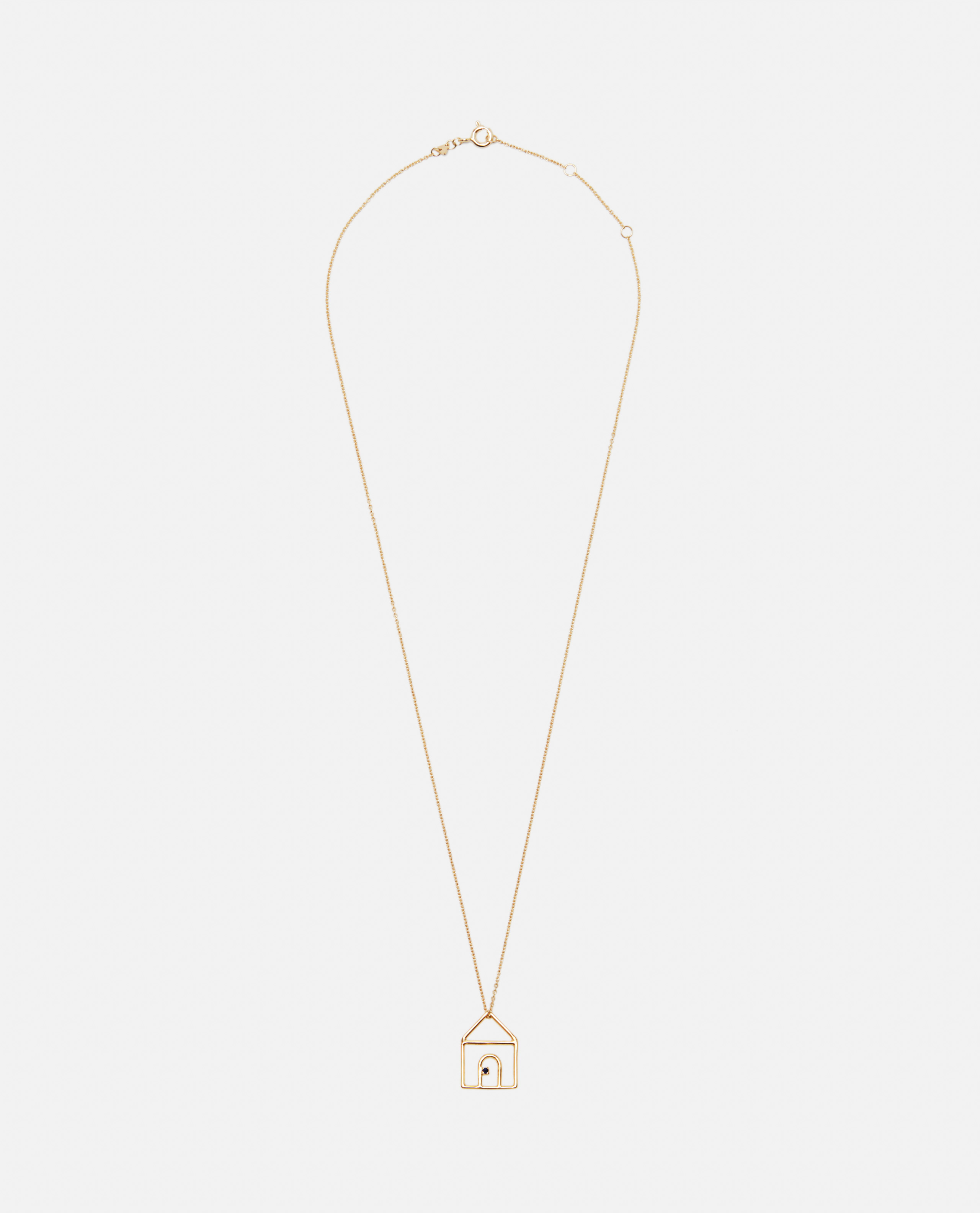 Casita necklace with pendant in 9kt yellow gold and sapphires