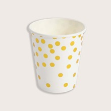 10pcs Polka Dot Pattern Disposable Paper Cup