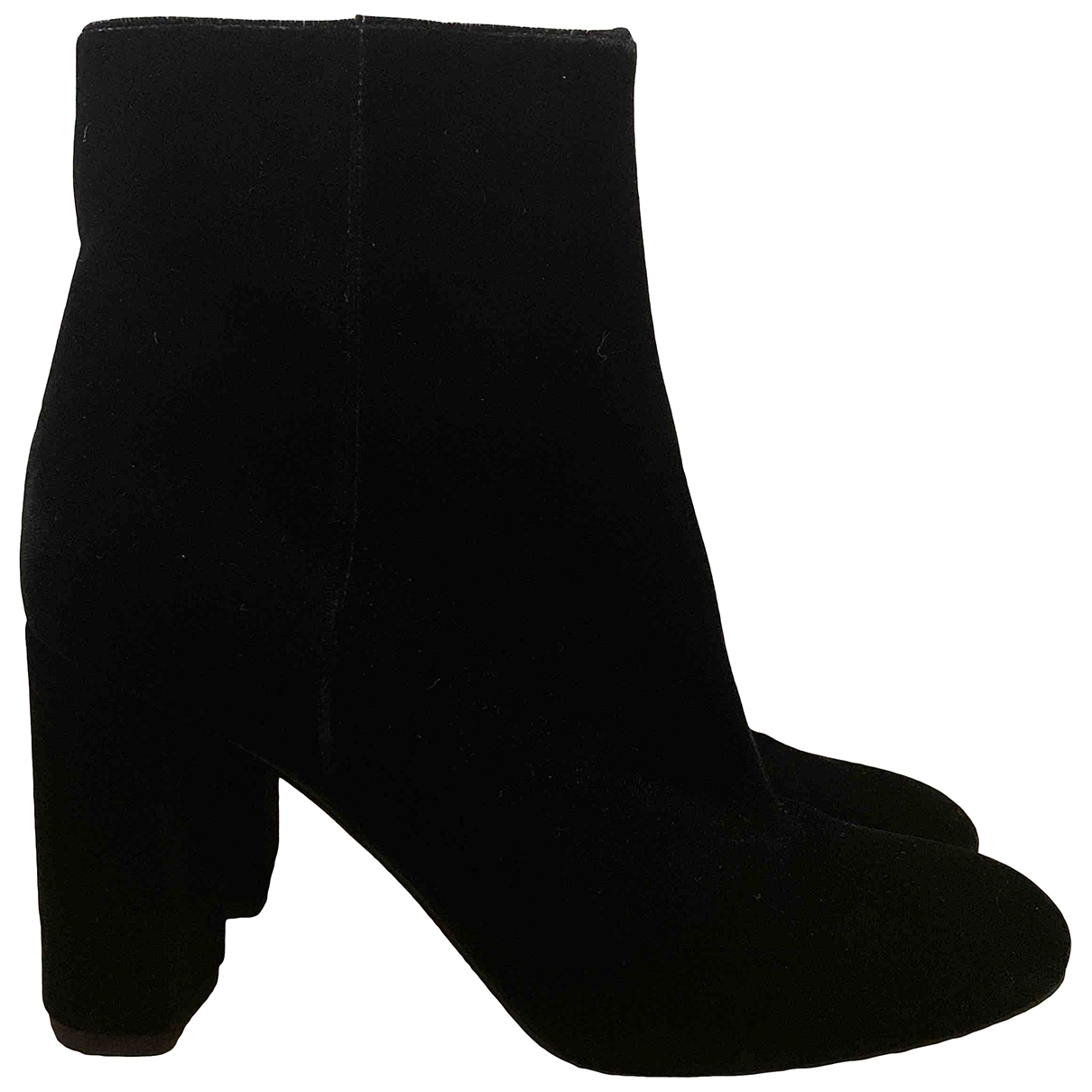 Saint Laurent - Boots Lou pour femme en velours - noir