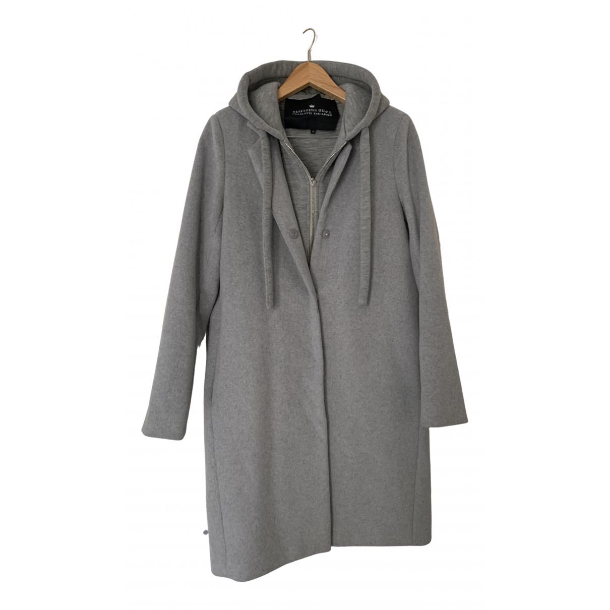 Charlotte Eskildsen - Manteau   pour femme en laine - gris