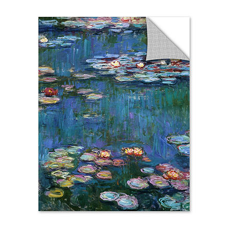 Brushstone Water Lillies By Claude Monet RemovableWall Decal, One Size , Blue