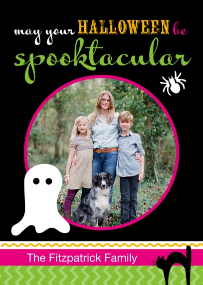 Halloween Photo Cards 5x7 Cards, Premium Cardstock 120lb with Rounded Corners, Card & Stationery -Posh Paper Halloween Spooktacular