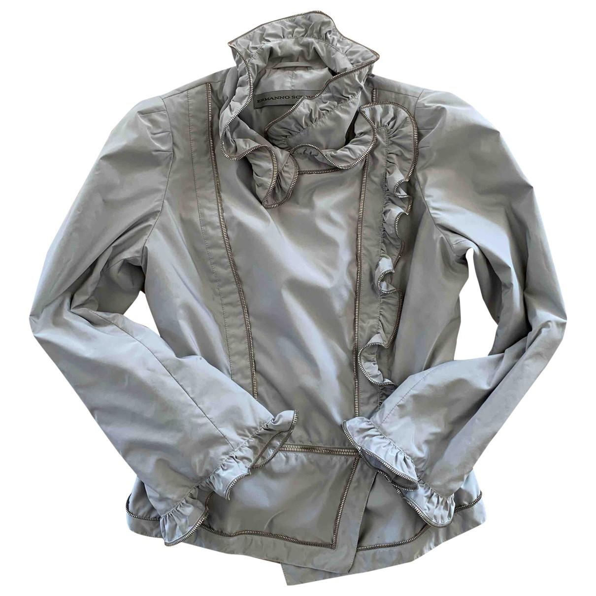 Ermanno Scervino \N Lederjacke in  Grau Polyester