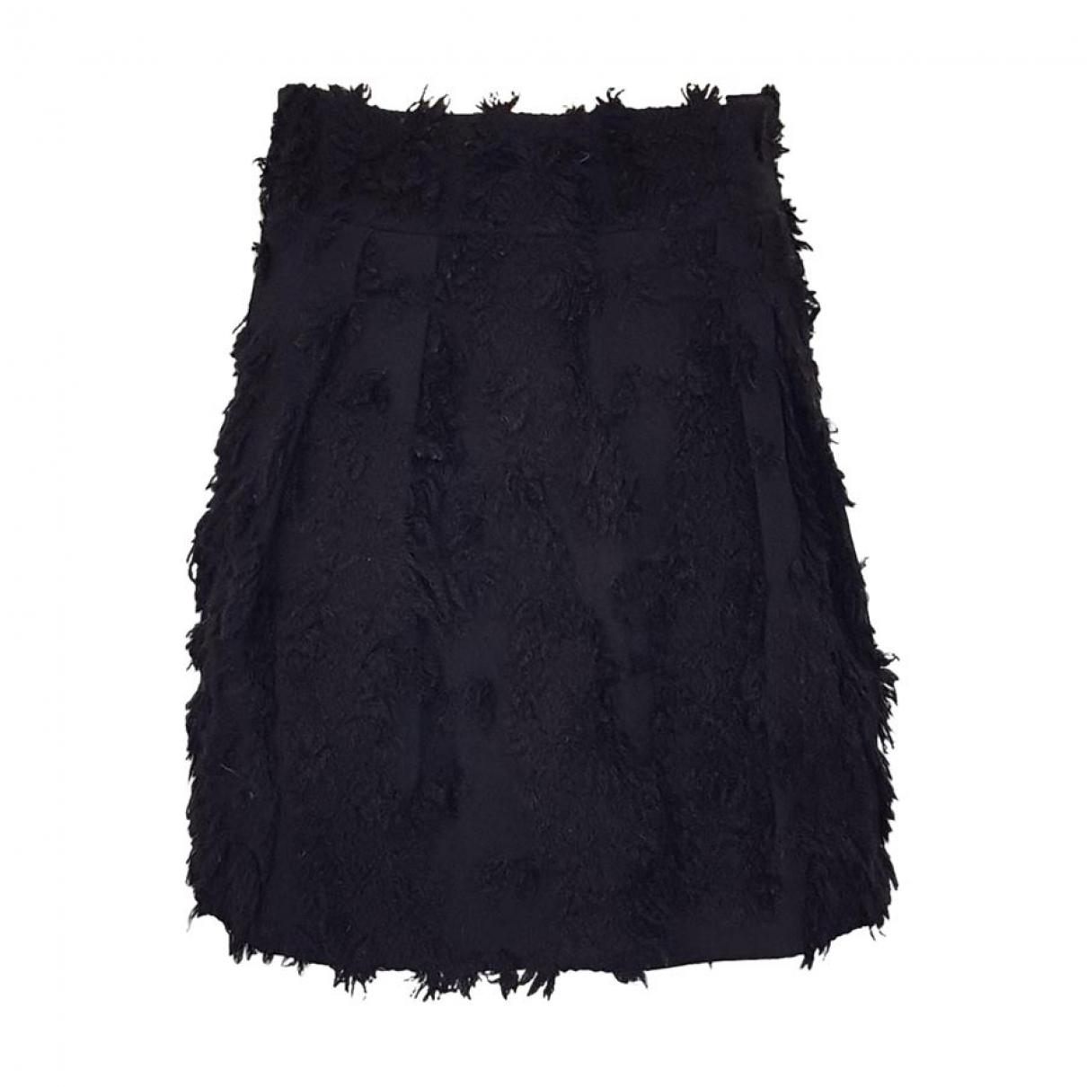 Francesco Scognamiglio \N Black Wool skirt for Women 42 IT
