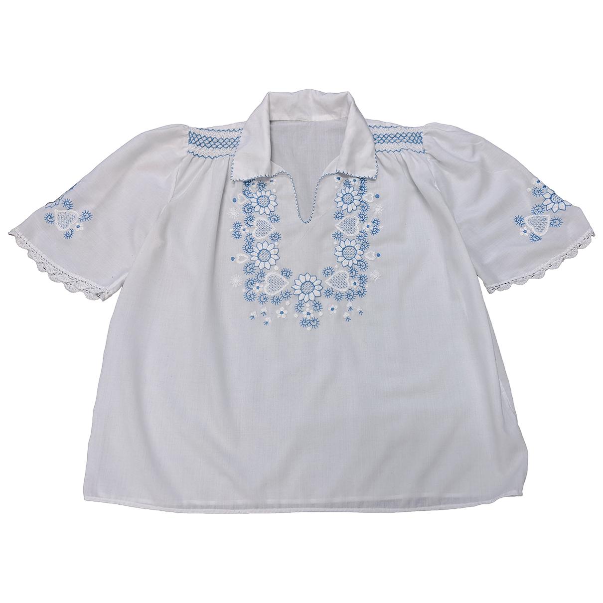 - Top Autrichien pour femme en coton - blanc