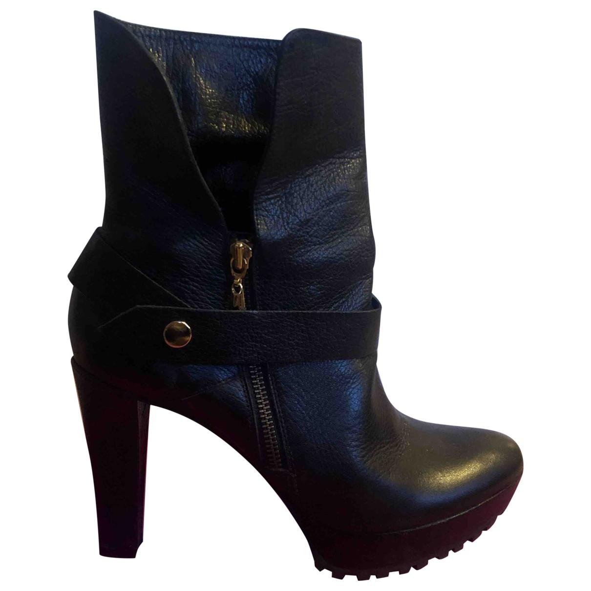 Diane Von Furstenberg - Escarpins   pour femme en cuir - noir