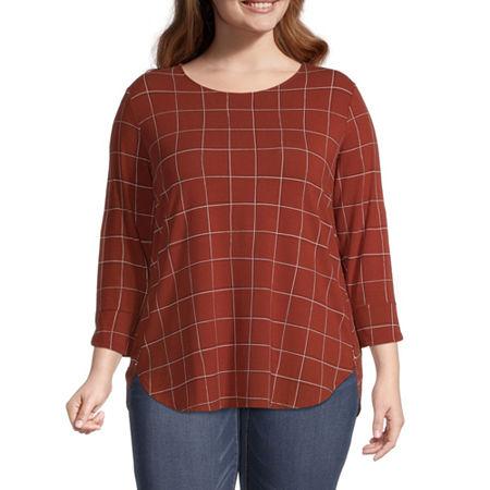 Liz Claiborne Womens Tulip Sleeve Tunic - Plus, 3x , Red